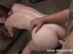 Melody Jordan gets an anal Cream Pie