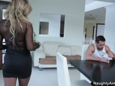 Slutty glod digger Cameron Dee falls for the young dude