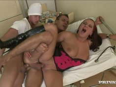 Two gays fuck each other and gorgeous Brandy Lee