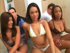 Whole bunch of sextractive chics in bikinis