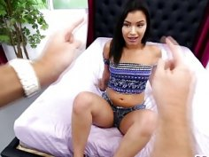 Long schlong for petite dark haired teen Martini