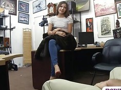 Hot ass babe pawns her pussy and fucked by pawn dude