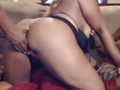 Horny black couple in a deep throated creampie adventure